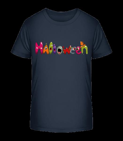 Halloween - Kinder Premium Bio T-Shirt - Marine - Vorn