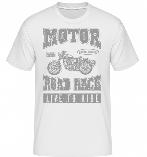Motor Road Race - Shirtinator Männer T-Shirt - Weiß - Vorn
