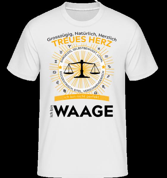 Sternzeichen Waage - Shirtinator Männer T-Shirt - Weiß - Vorn