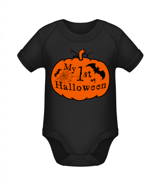 My First Halloween - Organic Baby Body - Black - Vorn