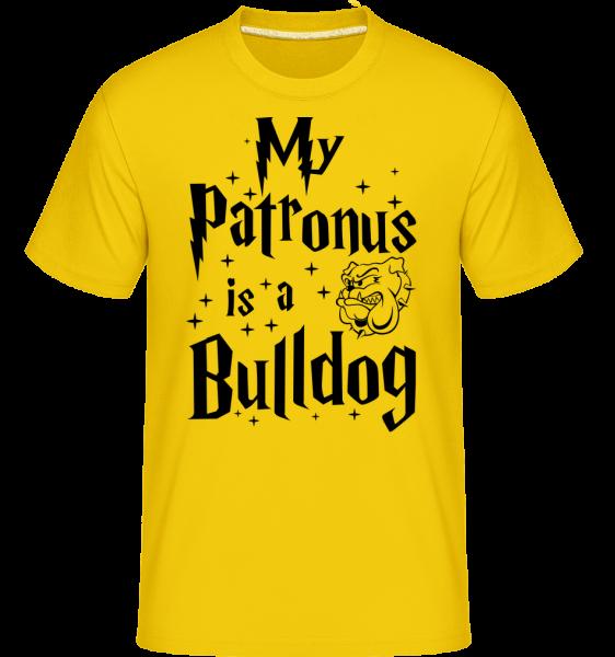 My Patronus Is A Bulldog - Shirtinator Männer T-Shirt - Goldgelb - Vorn