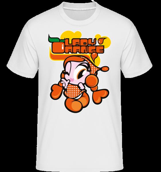 Lady Orange -  Shirtinator Men's T-Shirt - White - Front