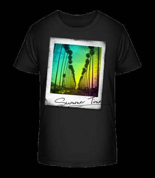 Summer Time - Kid's Premium Bio T-Shirt - Black - Front