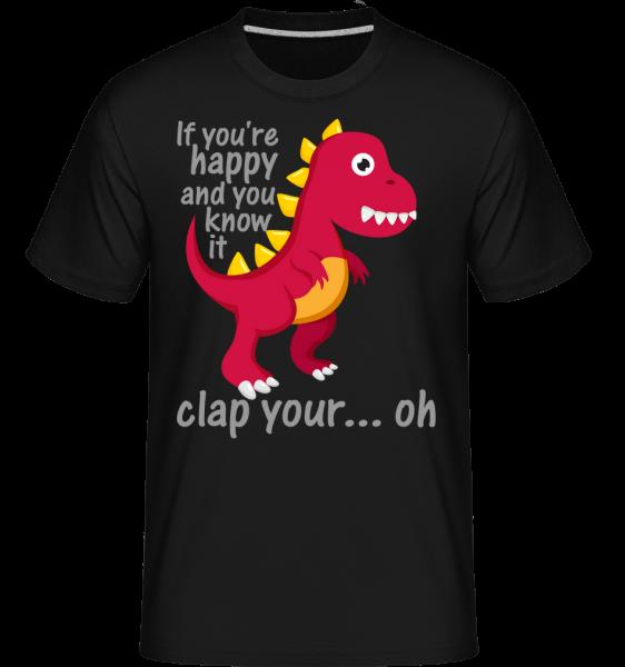 T-Rex Clap You Hands -  Shirtinator Men's T-Shirt - Black - Vorn