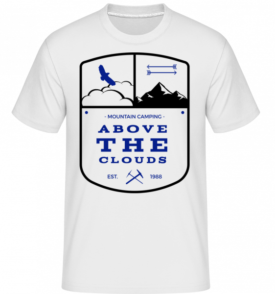 Camping Above The Clouds Sign - Shirtinator Men's T-Shirt - White - Vorn