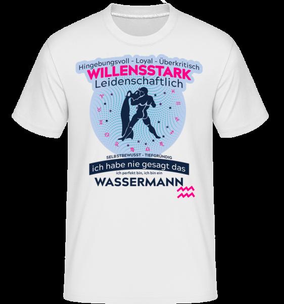 Sternzeichen Wassermann - Shirtinator Männer T-Shirt - Weiß - Vorn