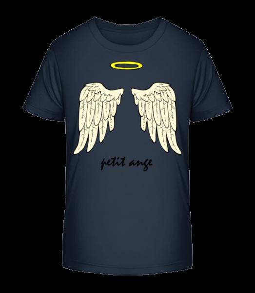 Petit Ange - Kinder Premium Bio T-Shirt - Marine - Vorn