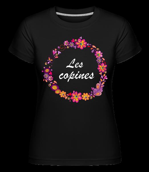 Les Copines Fleurs - Shirtinator Frauen T-Shirt - Schwarz - Vorn