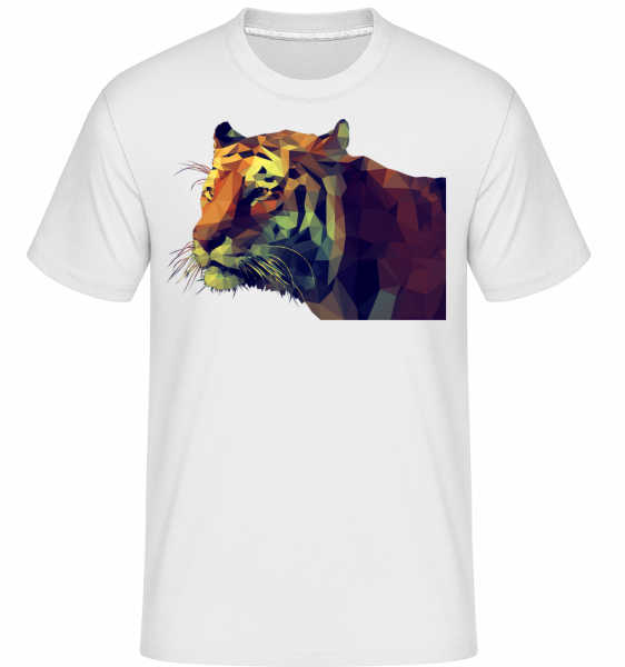 Polygone Tiger -  Shirtinator Men's T-Shirt - White - Vorn
