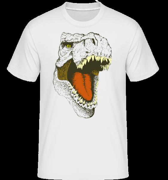 T-Rex Logo - Shirtinator Männer T-Shirt - Weiß - Vorn
