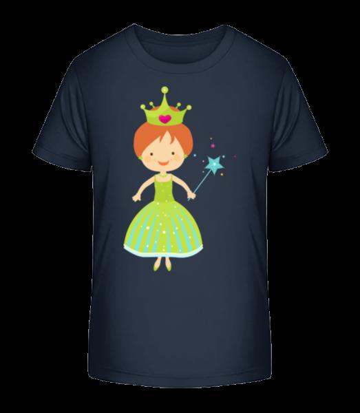 Princess Kids - Kinder Premium Bio T-Shirt - Marine - Vorn