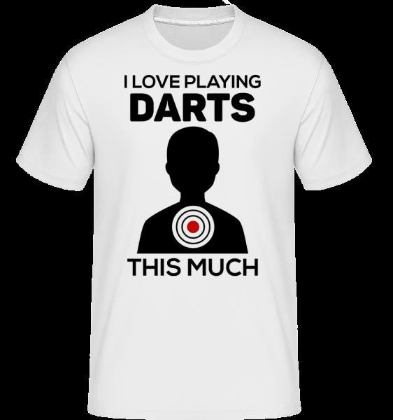 Love Playing Darts -  Shirtinator Men's T-Shirt - White - Vorn