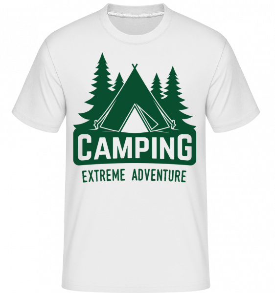 Camping Extreme Adventure - Shirtinator Männer T-Shirt - Weiß - Vorn
