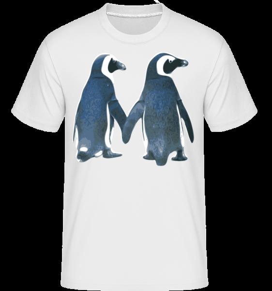 Pinguin Paar - Shirtinator Männer T-Shirt - Weiß - Vorn