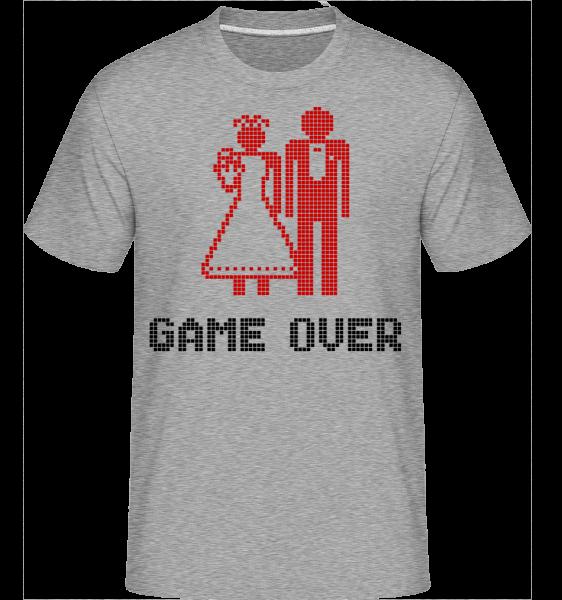 Game Over Sign Red - Shirtinator Men's T-Shirt - Heather grey - Vorn