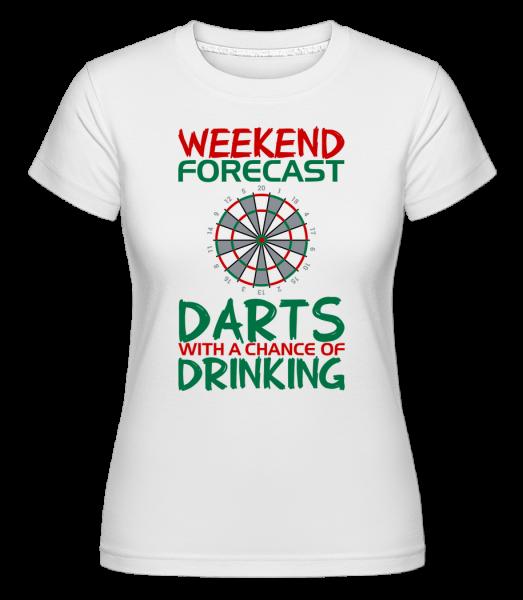 Weekend Darts And Drinking - Shirtinator Frauen T-Shirt - Weiß - Vorn