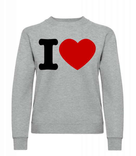 I Love - Classic Ladies' Set-In Sweatshirt - Heather Grey - Vorn