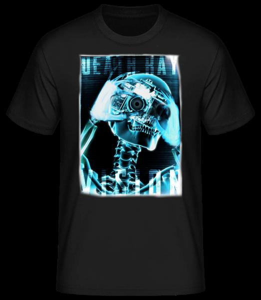 X-Ray Skeleton - Men's Basic T-Shirt - Black - Front