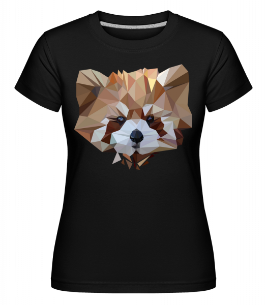 Polygon Bear -  Shirtinator Women's T-Shirt - Black - Vorn