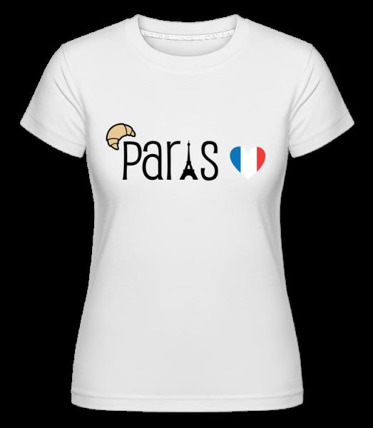 Paris Logo -  Shirtinator Women's T-Shirt - White - Front