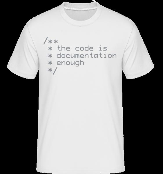 Code Is Documentation -  Shirtinator Men's T-Shirt - White - Vorn