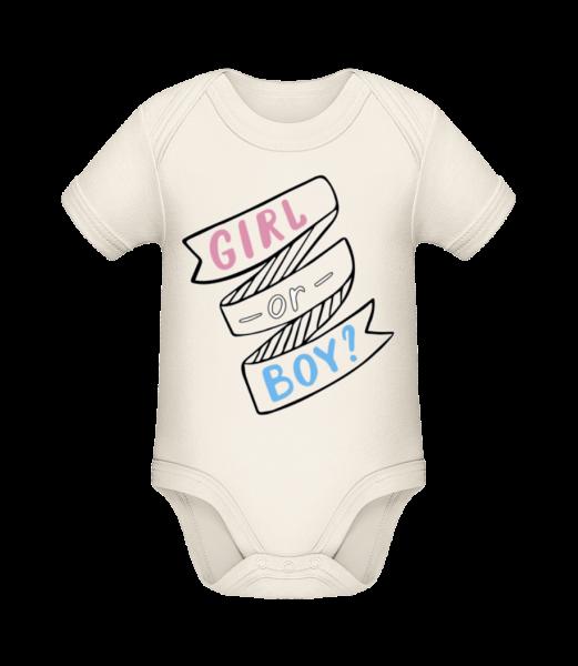 Girl Or Boy? - Baby Bio Strampler - Creme - Vorn