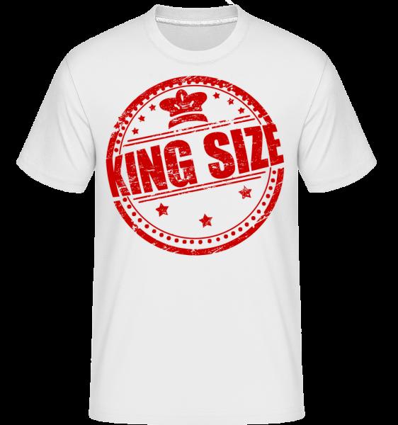 King Size Logo -  Shirtinator Men's T-Shirt - White - Vorn