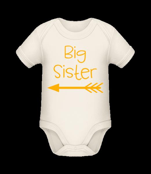 Big Sister - Baby Bio Strampler - Creme - Vorn