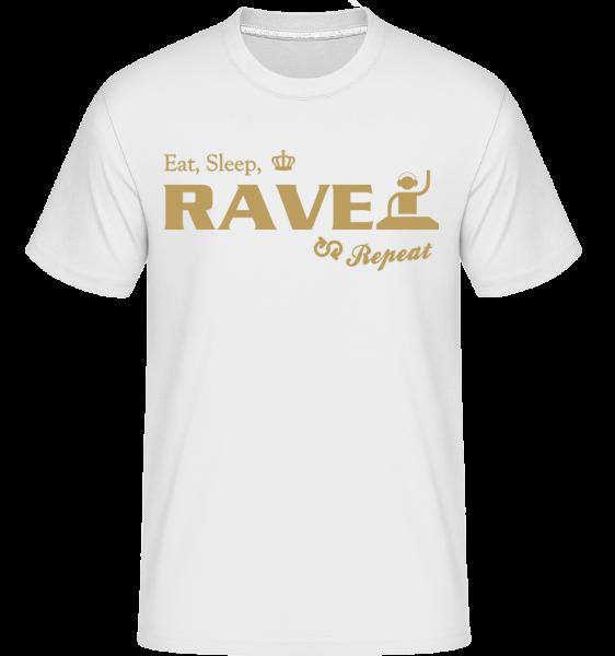 Eat Sleep Rave Repeat - Shirtinator Männer T-Shirt - Weiß - Vorn