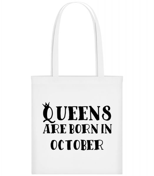 Queens Are Born In October - Carrier Bag - White - Vorn