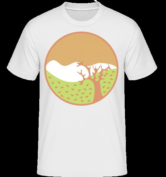 Herbstlandschaft - Shirtinator Männer T-Shirt - Weiß - Vorn