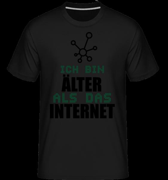 Ich Bin Älter Als Das Internet - Shirtinator Männer T-Shirt - Schwarz - Vorn