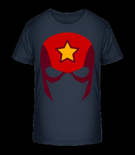 Superhero Icon - Kinder Premium Bio T-Shirt - Marine - Vorn