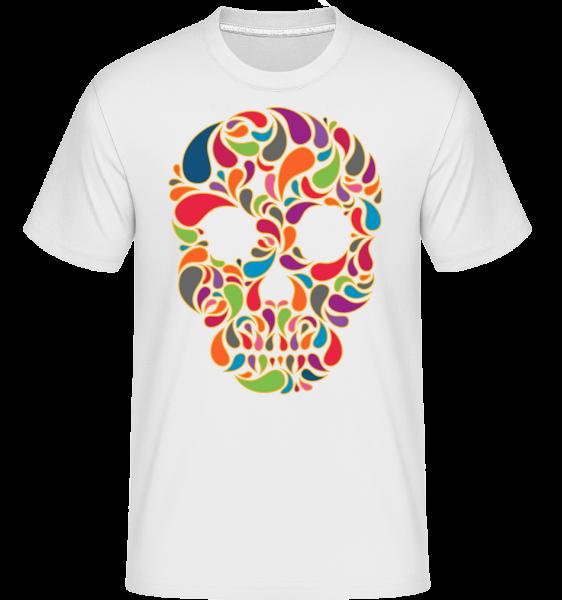 Colorful Skull - Shirtinator Men's T-Shirt - White - Vorn