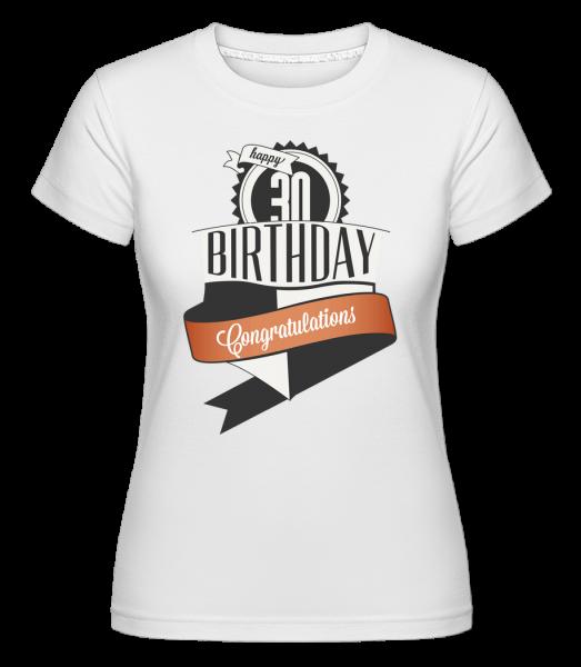 30 Birthday Congrats - Shirtinator Frauen T-Shirt - Weiß - Vorn