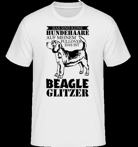 Hundehaare Beagle Glitzer - Shirtinator Männer T-Shirt - Weiß - Vorn