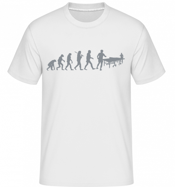 Evolution Of Table Tennis -  Shirtinator Men's T-Shirt - White - Vorn