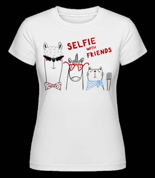 Selfie With Friends - Shirtinator Frauen T-Shirt - Weiß - Vorn