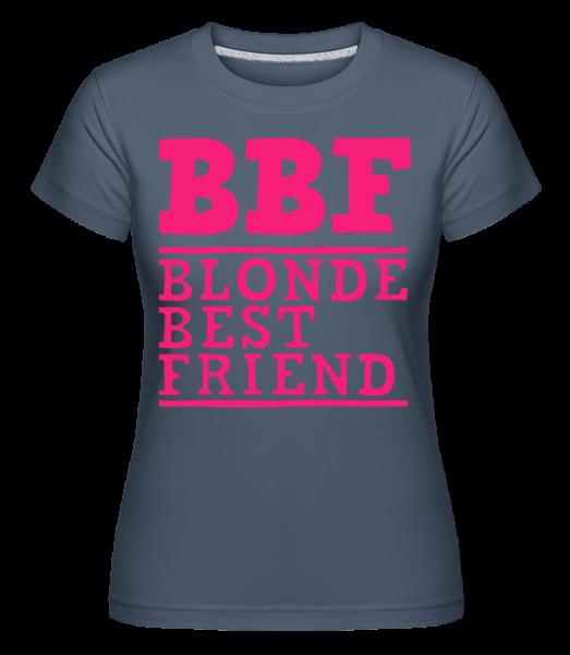 bff Blonde Best Friend - Shirtinator Women's T-Shirt - Denim - Vorn