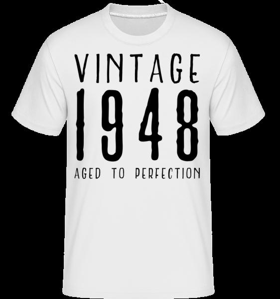 Vintage 1948 Aged To Perfection - Shirtinator Männer T-Shirt - Weiß - Vorn