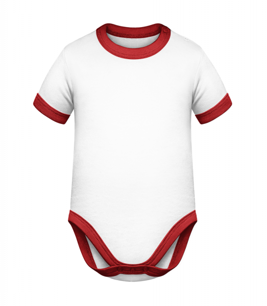Baby Two-Toned Bodysuit - White - Front