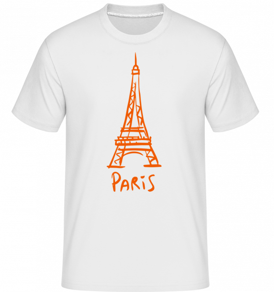 Paris Zeichen - Shirtinator Männer T-Shirt - Weiß - Vorn