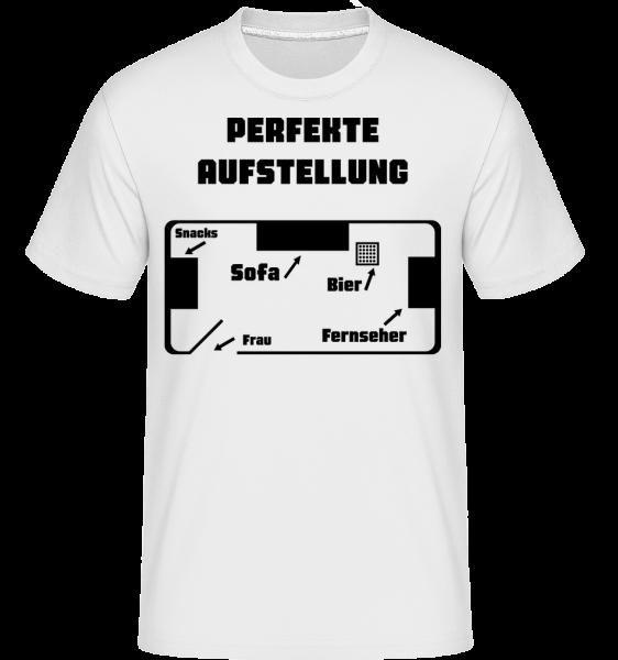 Perfekte Fußball Aufstellung - Shirtinator Männer T-Shirt - Weiß - Vorn