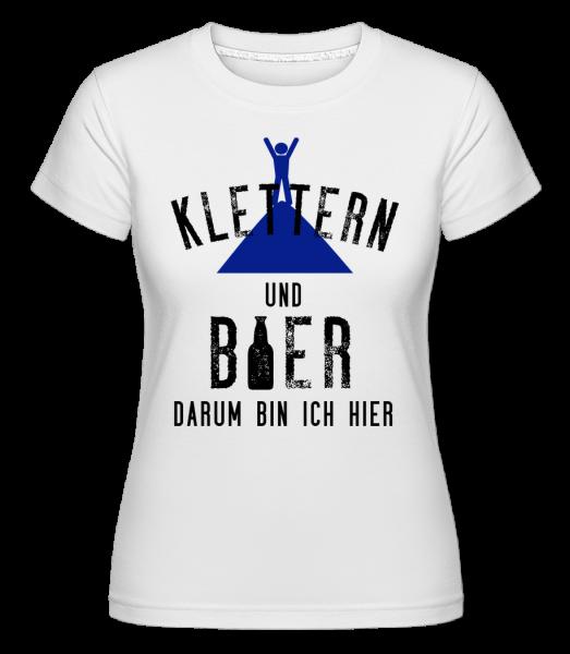 Klettern Und Bier - Shirtinator Frauen T-Shirt - Weiß - Vorn