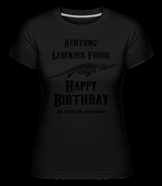 Achtung Lebendes Fossil - Shirtinator Frauen T-Shirt - Schwarz - Vorn