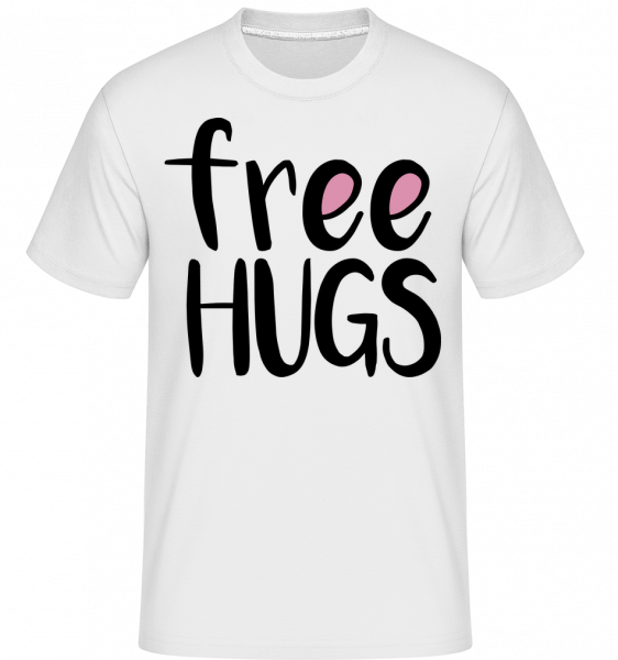 Free Hugs - Shirtinator Männer T-Shirt - Weiß - Vorn