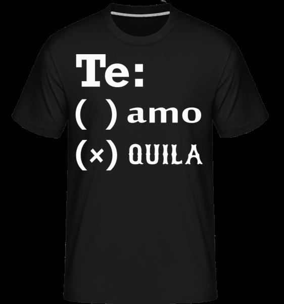 Te Amo Tequila - Shirtinator Männer T-Shirt - Schwarz - Vorn