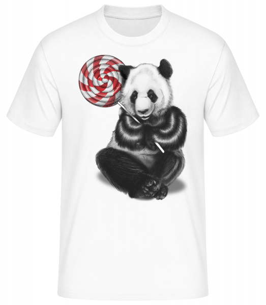 Candy Bear - Men's Basic T-Shirt - White - Front
