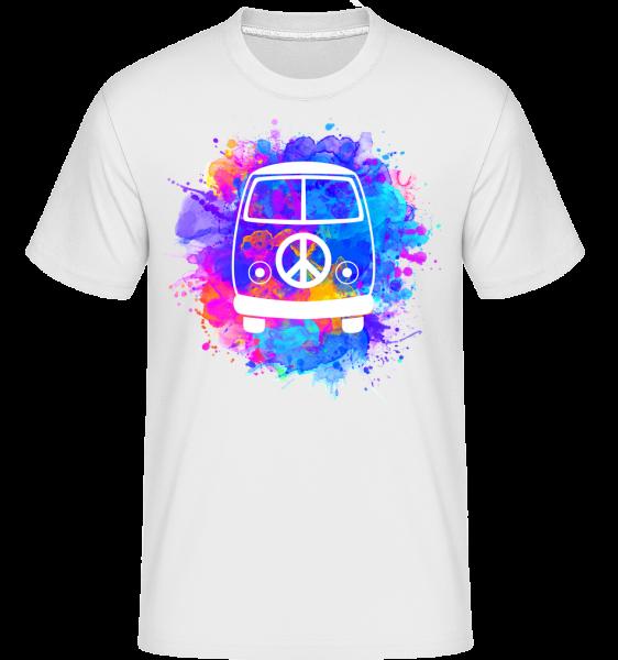 Hippie Bus - Shirtinator Männer T-Shirt - Weiß - Vorn