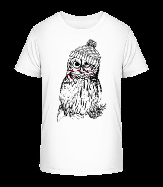 Christmas Owl - Kid's Premium Bio T-Shirt - White - Front